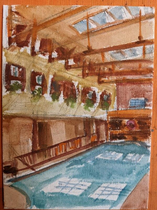 Pillar Post Pool by Maria Kelebeev