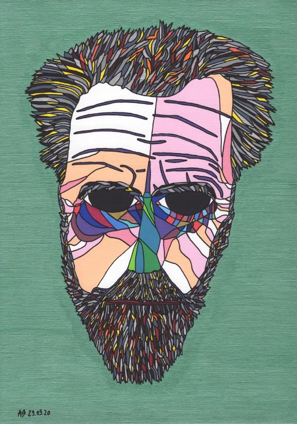 Ezra Pound by Andrea Bonaceto