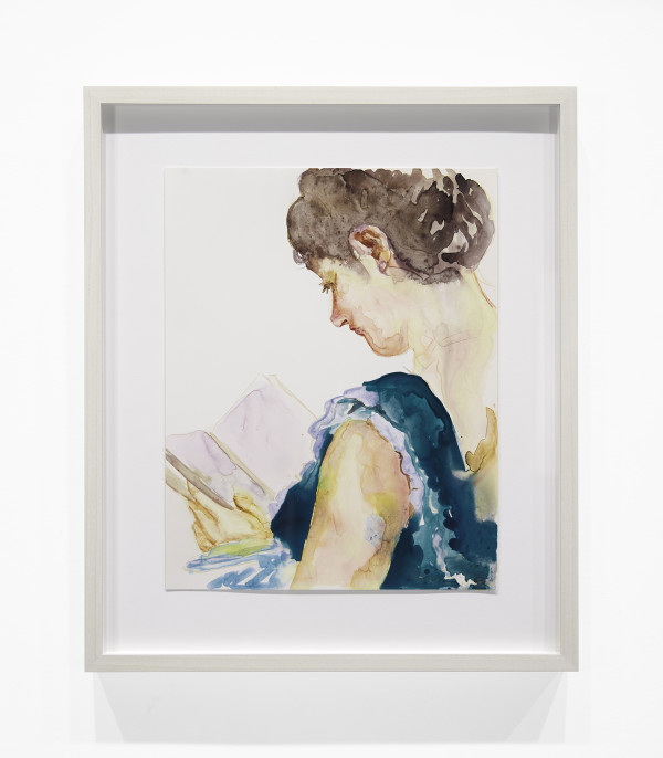 "Study for ""Blue Dress"" by Angela Fraleigh"