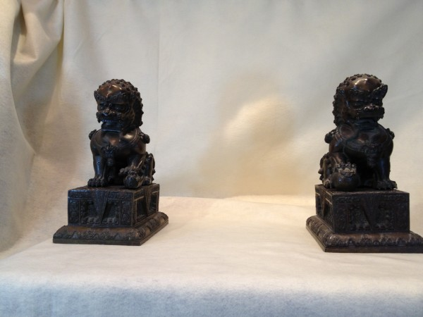 Bronze Fu Lions