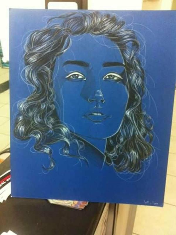 Girl on Blue by Studio Philips