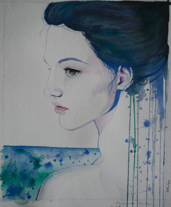 Blue Girl Triptych #3/3 by Studio Philips