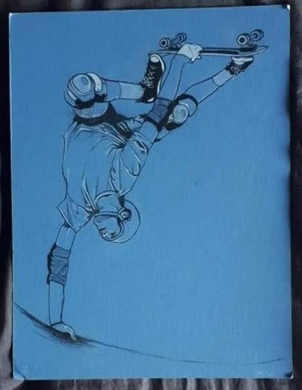 Skateboarder in Blue by Studio Philips
