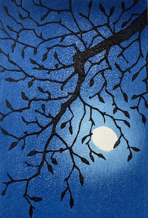 Japanese moon: magnolia by Mara Cozzolino