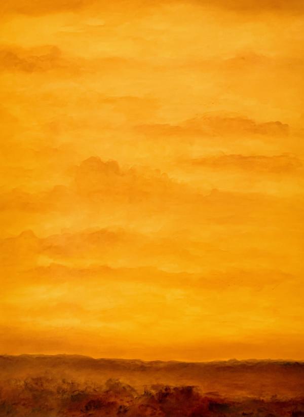 德克萨斯州西南部的日落