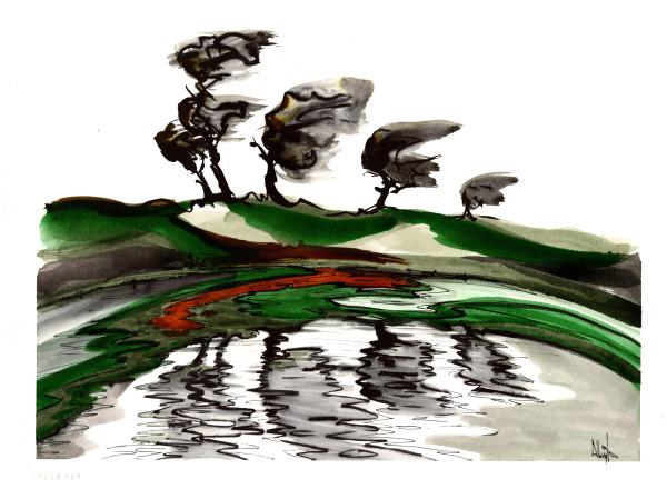 Four Tree Pond by Sam Albright