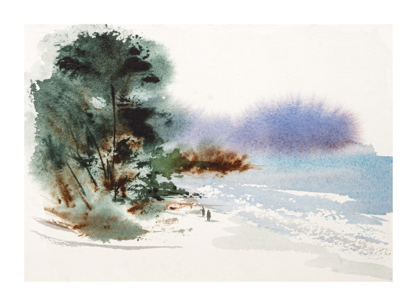 Misty Beach by Sam Albright