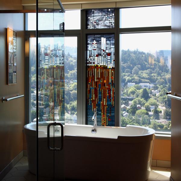Skyline Reflections: Portland by Josephine A. Geiger