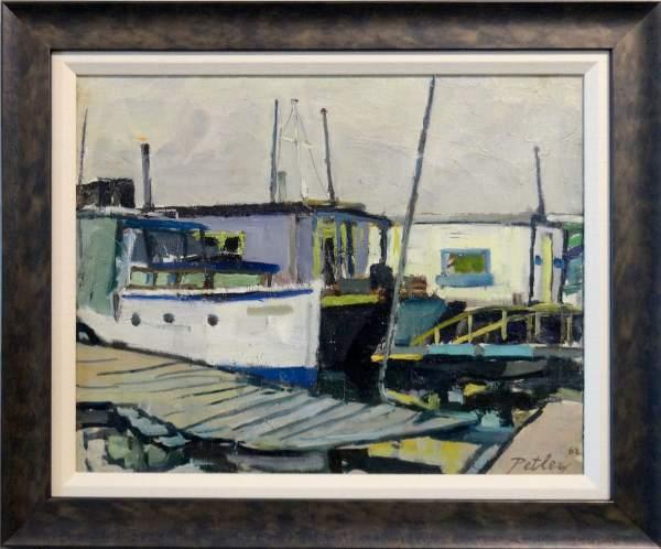 Boat Houses by Llewellyn Petley-Jones (1908-1986)