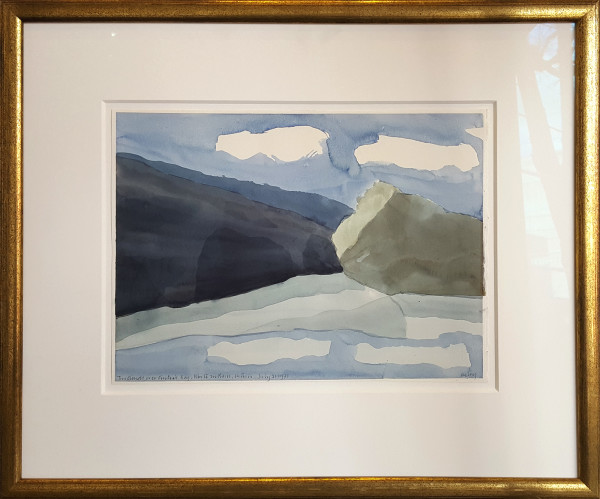 Two Clouds Over Cintras Bay by Toni Onley (1928-2004)