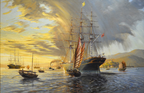 Tea Time at the Pagoda Anchorage by John Horton (C.S.M.A, F.C.A)