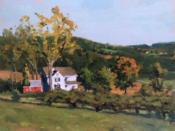 October Morning on Melick's Farm by Laurie Maher