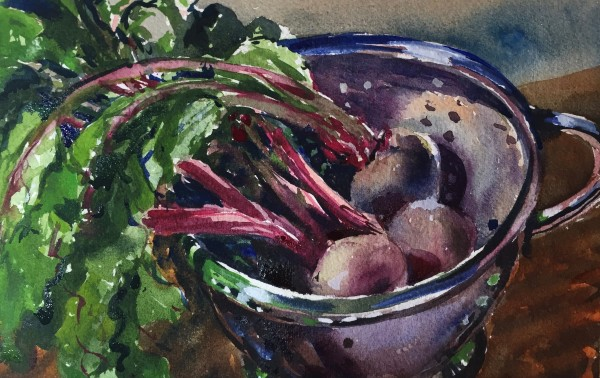 Beets In Colander by Laurie Maher