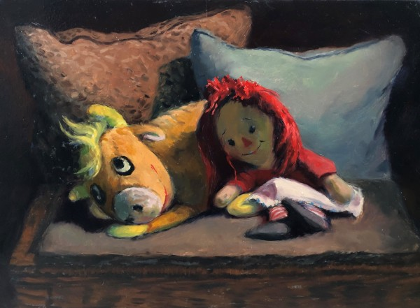 Cowie and Raggedy Ann by Laurie Maher