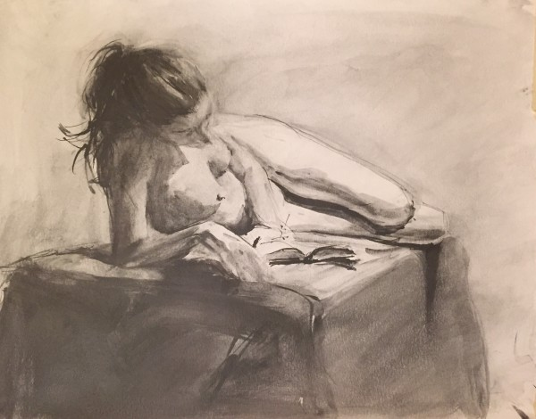 Woman Reading a Book by Laurie Maher