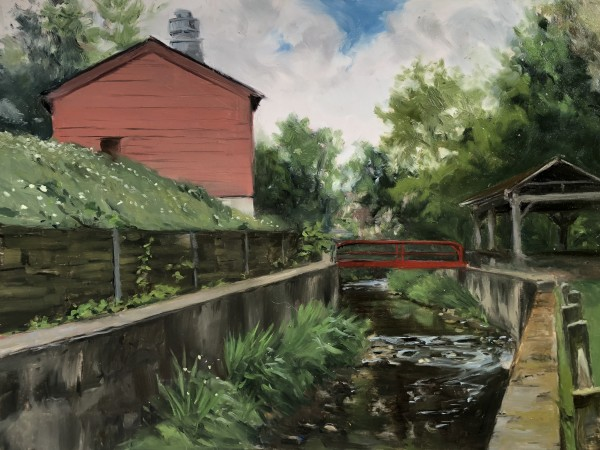 Near Bernardsville Firehouse by Laurie Maher