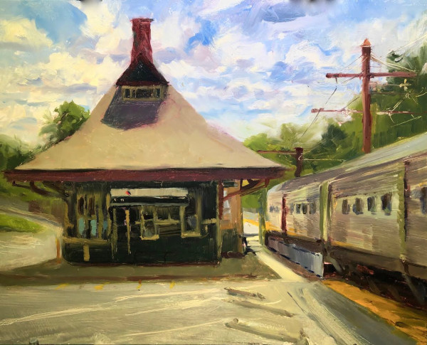 Gladstone Train Station by Laurie Maher