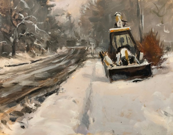 Washington Avenue, Snowstorm by Laurie Maher