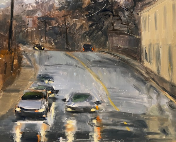 Rainy Intersection, Mt. Airy and Mine Brook Road by Laurie Maher