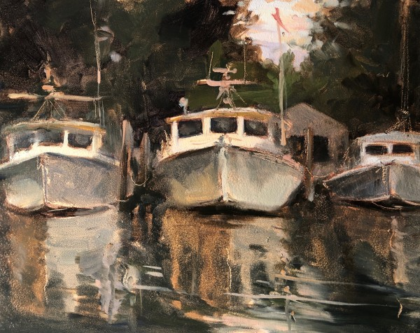 Three Boats, Tilghman Island by Laurie Maher