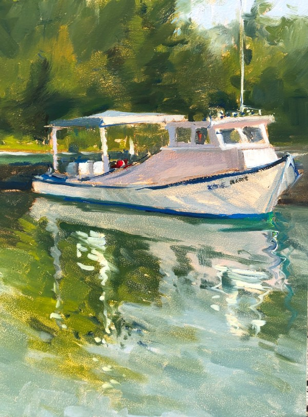 Clamming Boat by Laurie Maher