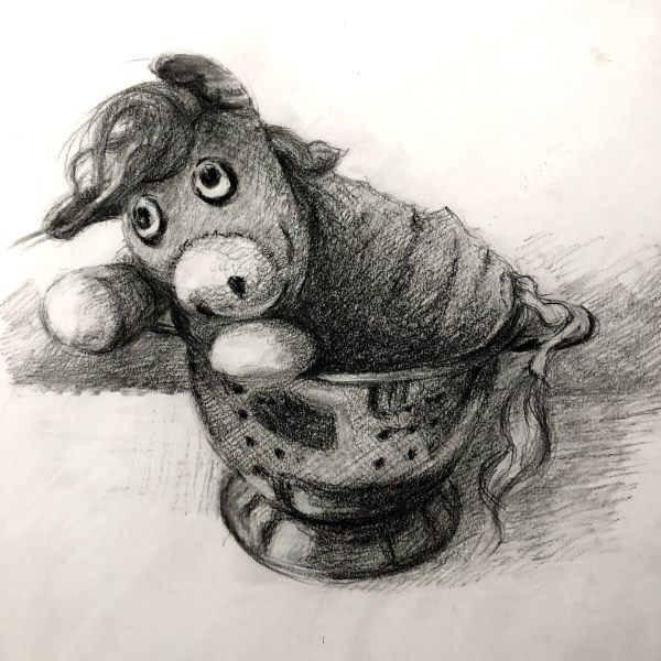 Cowie in a Colander by Laurie Maher