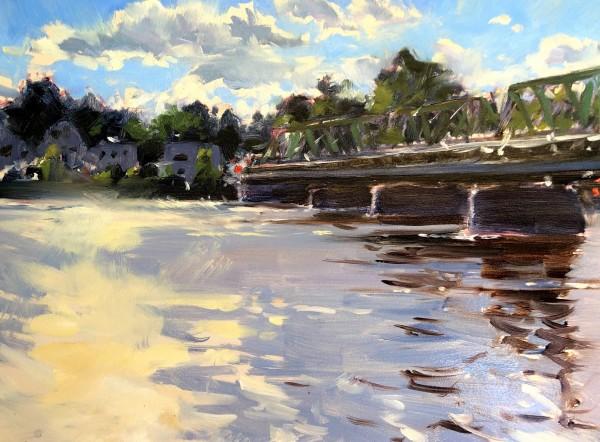 Lambertville Bridge by Laurie Maher