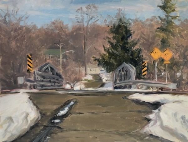 Train Overpass, Peapack by Laurie Maher