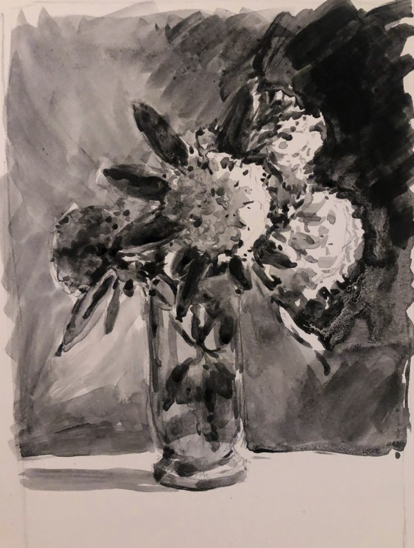 Rhododendrons in a Vase by Laurie Maher