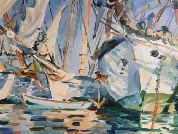 White Ships-After John Singer Sargent by Laurie Maher