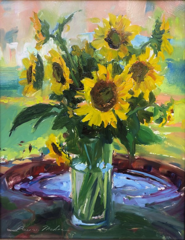 Sunflowers in the Shade by Laurie Maher