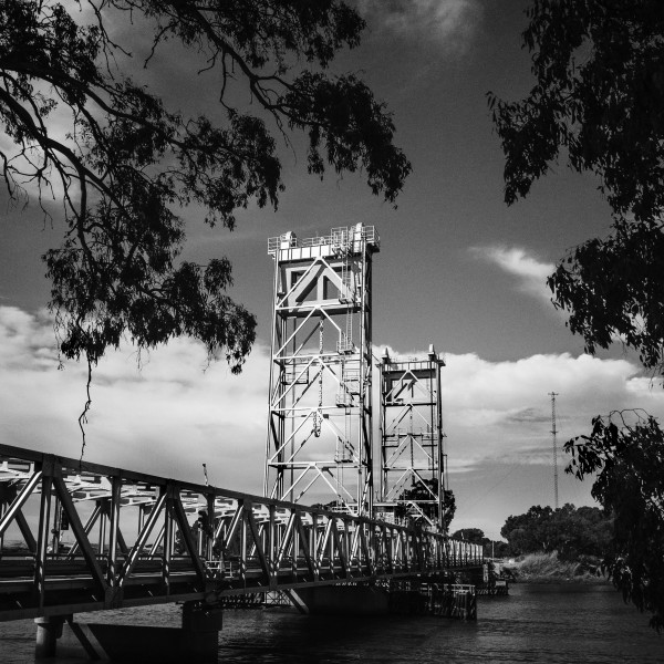 Three Mile Slough Bridge by Farrell Scott