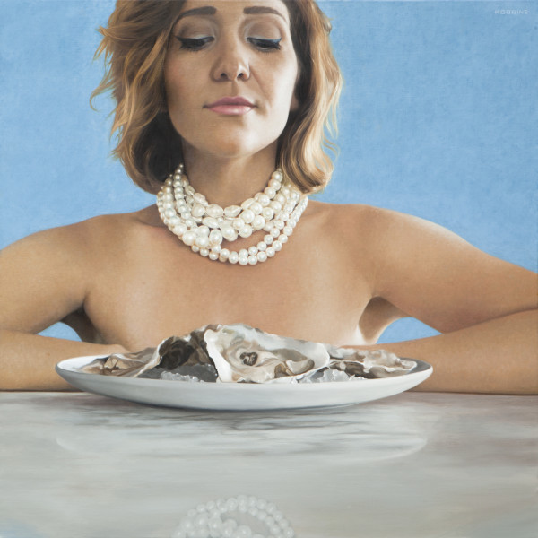Keep Calm and Eat Oysters by Nadine Robbins
