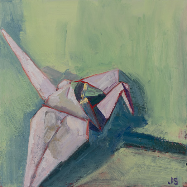 The Crane Painting by Jessica Singerman