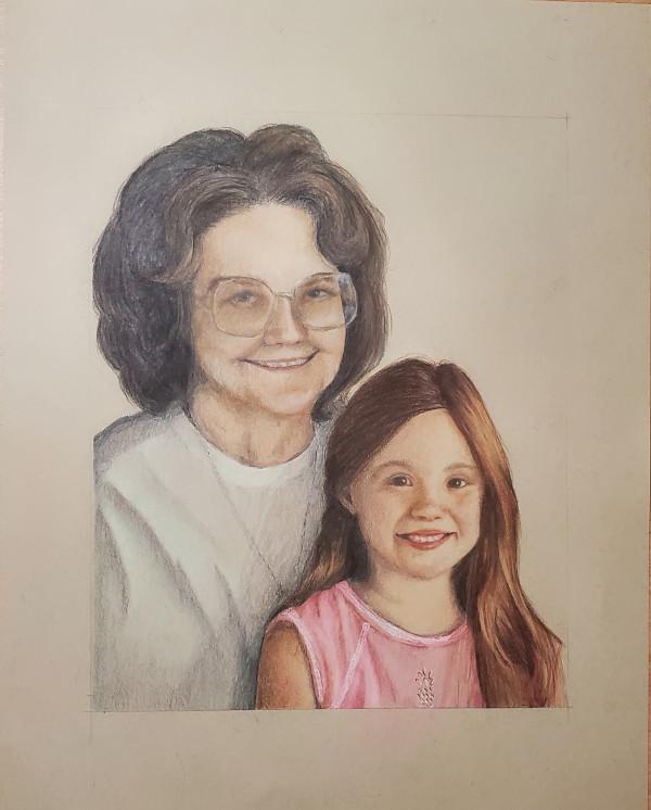 Grandma & Kaley Jo by Laura Sue Hartline
