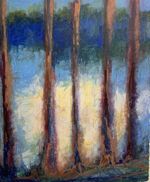 Moonrise Through the Trees