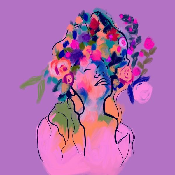 Violet - Goddess of indigo by Urvashi Patel