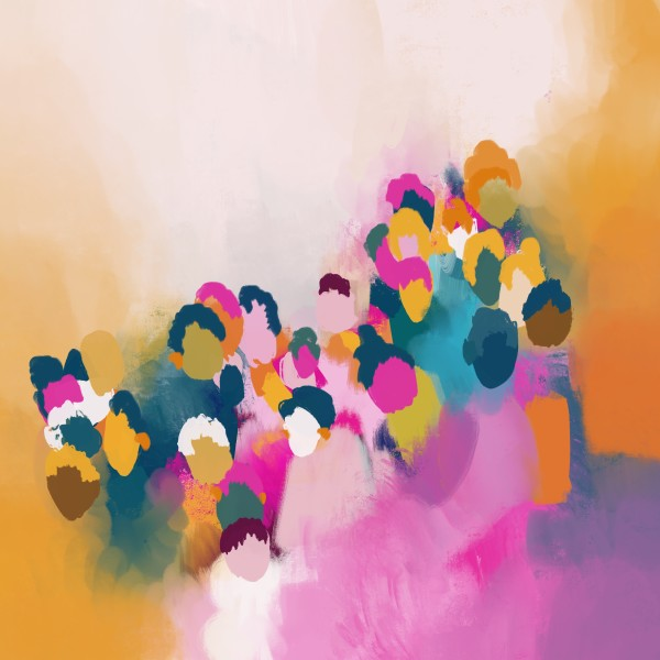 Colourful People- abstract by Urvashi Patel