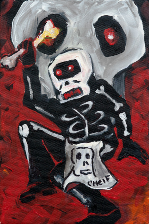 Red Skull n Bones by Frenchy