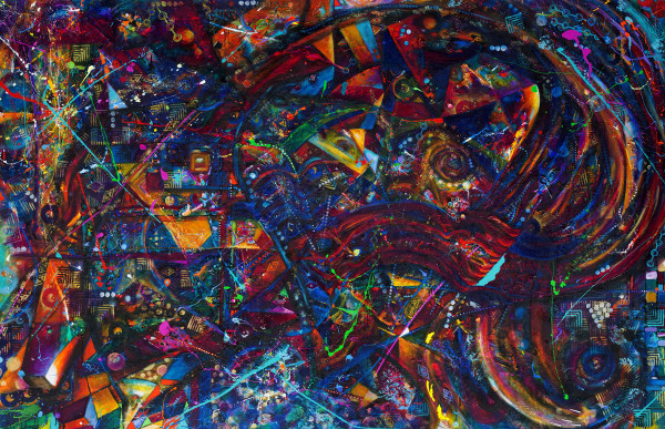 Abstract DropCloth Vortex I by Frenchy