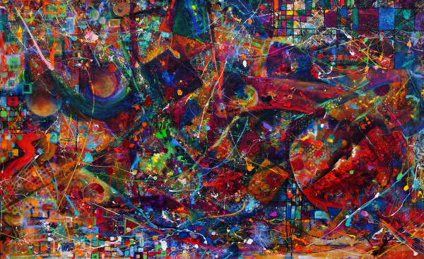 Abstract DropCloth Vortex II by Frenchy