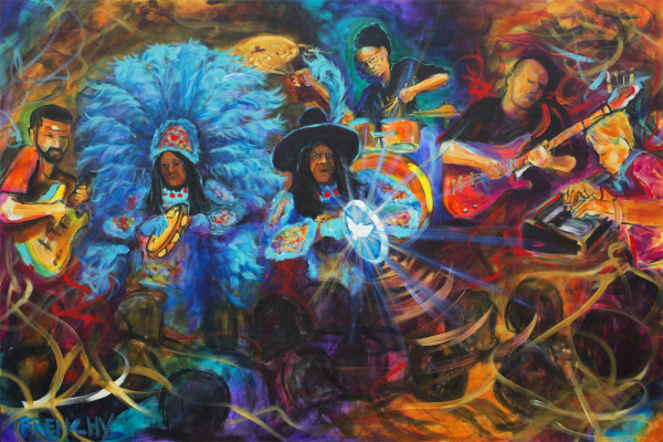 Big Chief Monk Boudreaux & the Golden Eagles by Frenchy