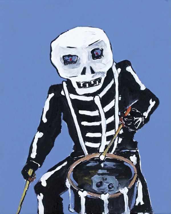 Blue Skull n Bones by Frenchy