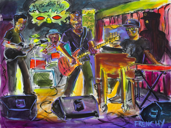 Ivan Neville, Ian Neville, Tony Hall & Deven Trusclair by Frenchy