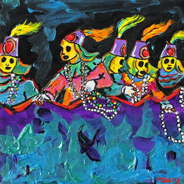 Mardi Gras Float Riders by Frenchy