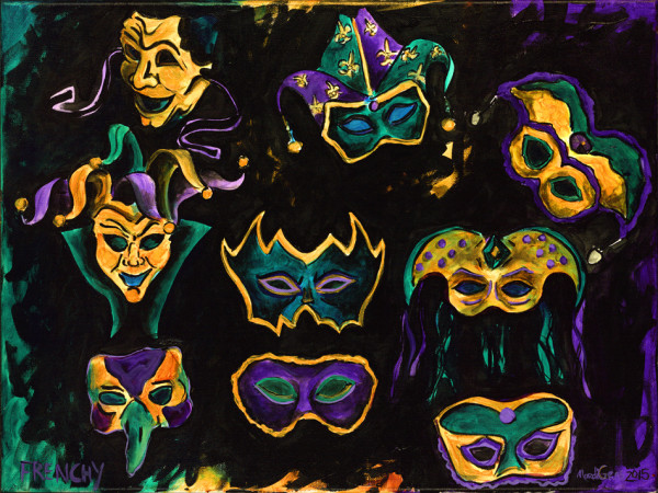 Mardi Gras Masks by Frenchy