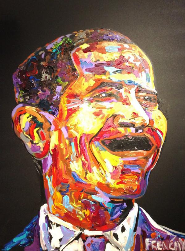 Obama Portrait  by Frenchy