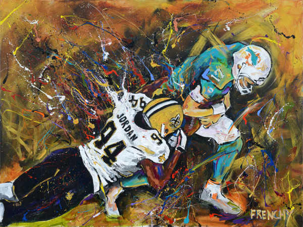 Dolphins vs. Saints by Frenchy