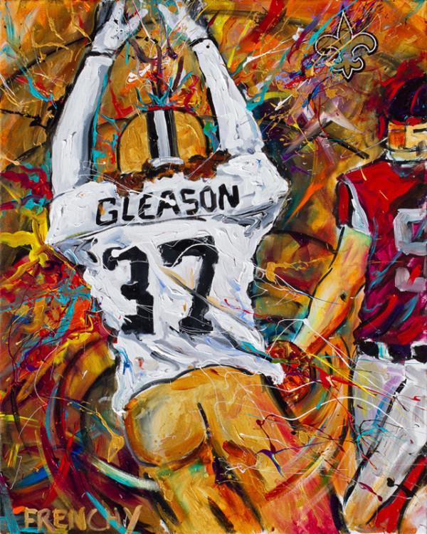 Steve Gleason Block Back by Frenchy