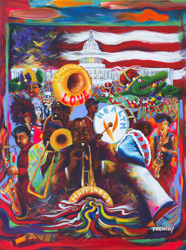 2016 Washington Mardi Gras Poster by Frenchy